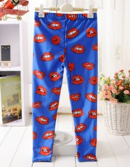 4-9Years Baby Girl Legging Children Pants Sexy Lip Leggings Girls Leggings Kids Leggings Girls Cute Pants For Kids