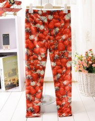 5 12 Years Baby Girl Legging Children Pants Strawberry Leggings Girls Leggings Kids Leggings Girls Cute Pants For Kids