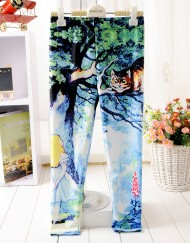 5-12Years Baby Girl Legging Children Pants Alice in Wonderland Girls Leggings Kids Leggings Girls Cute Pants For Kids