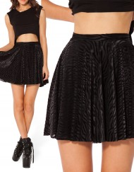 Autumn Winter Women Skater Skirt Black Velvet Skirts Zebra Stripe Printed Plus Size XXL Skater Skirts Short Skirts