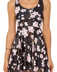 Cherry Blossom Skater Dress for Women Fashion Women's  Women Summer Dress