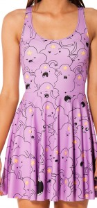 Women Summer Dress  Adventure Time Lumpy Space Princess Skater Dress for Women Fashion Women's