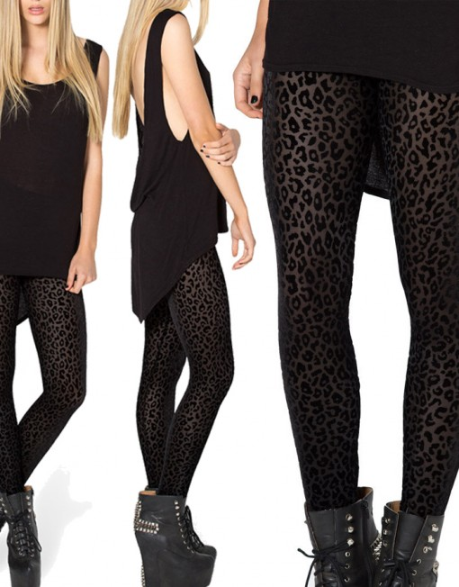 9527da2495ec0 Style Avery Burned Velvet Leggings Women Leggin Leopard Print Leggings Plus  Size Women Winter Warm Leggings