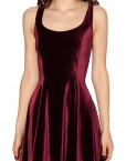 Fall Autumn Velvet Dress Casual Dress Party Dresses  Velvet Red Dresses Plus Size Women Clothing