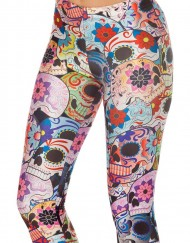 Adventure Time Day of the Dead Legging for Women Fashion Women's  Girl Leggings