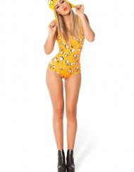 Adventure Time Jake All Over for Women Fashion Women's  Girl Swimsuit