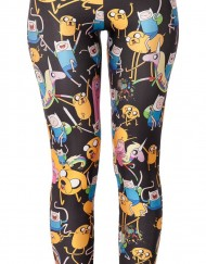 Adventure Time Montage Black Leggings For Women Fashion Women's  Girl Leggings