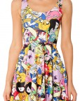 Adventure Time Skater Dress for Women Fashion Women's  Girl Dress