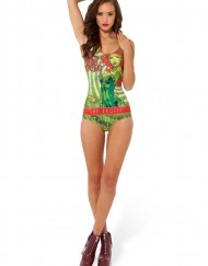 Batman Poison Ivy Swimsuit for Women Fashion Women's  Girl Swimsuit