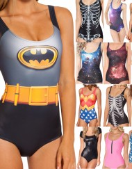 Batman Swimsuit for Women Fashion Women's Batman Swimsuits  Girl Batgirl Swimsuit