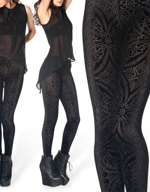 Burned Velvet Fashion Legging for Women Fashion Women's  Girl Leggings