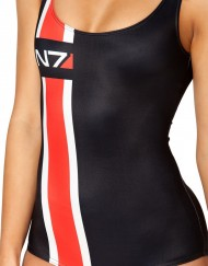 Mass Effect N7 Swimsuit for Women Fashion Women's  Girl Swimsuit