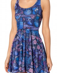 Midnight Owl Dress Skater Dress for Women Fashion Women's  Girl Dress