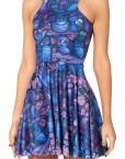 Midnight Owl Dress Skater Dress for Women Fashion Women's  Girl Dress
