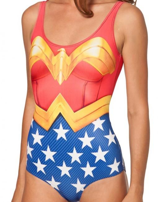 Wonder Woman Cape Bodysuit Swimsuit Superman for Women Fashion Women's  Girl Swimsuit