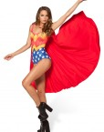 Wonder Woman Cape Bodysuit Swimsuit Superman for Women Fashion Women's  Girl Swimsuit