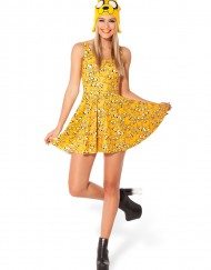 Adventure Time Jake All Over Scoop Skater Dress Women Fashion Women's