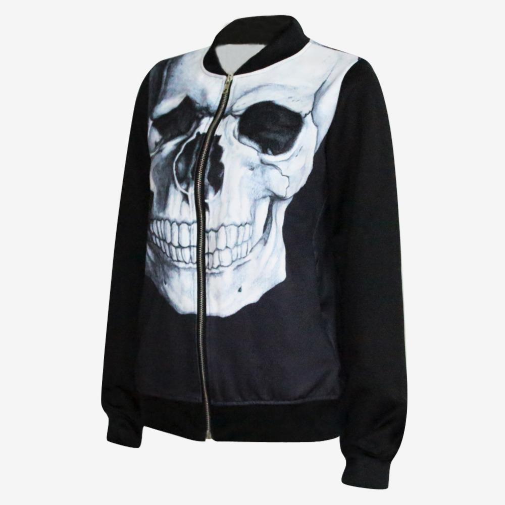 Hot Sale Women Jackets And Coats Casual Autumn Jacket Women Skull ...