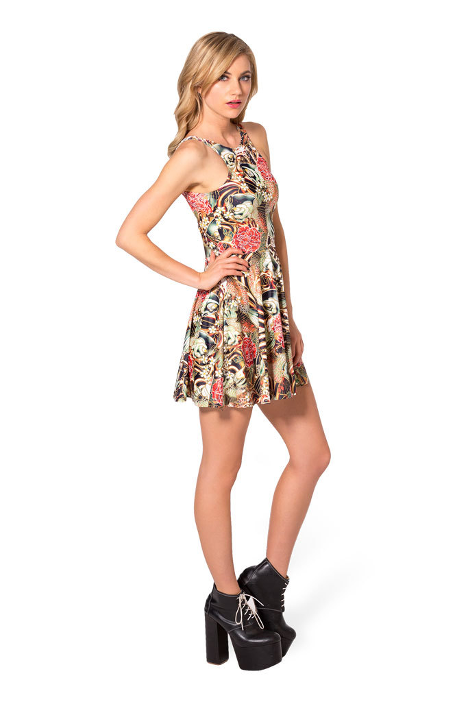 08b328af3a Print Dresses Brand Summer Koi Rev Party Fashion Skater Dresses Sexy ...