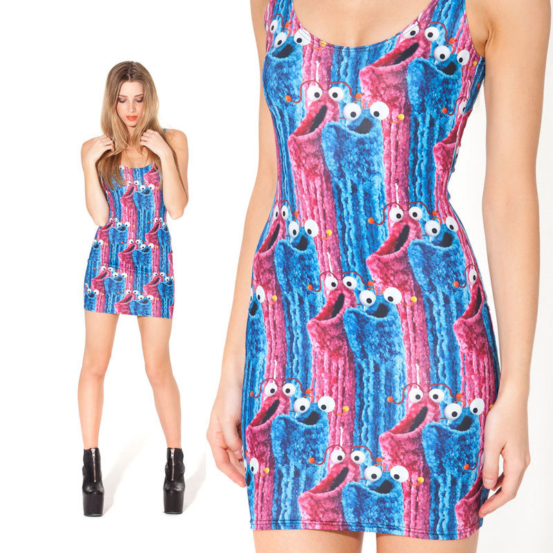 50a2e640df Print Dresses Brand Summer Arrival Yip Yip Comic Party Fashion Lady Dress  Sexy Vintage Dress Women Clothing | Avery Couture
