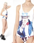 Women Bathing Suit One Piece Swimsuit Sexy Swimwears Women Uncle Sam Swimsuit High Waist Swimsuits For Women