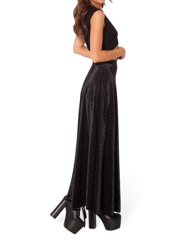 dac092c5bbbb5 ... Womens Burned Velvet Maxi Skirt Long Skirt Maxi Skirts female Vinatge.  prev