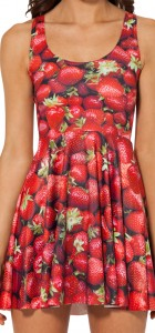 Women Summer Dress Strawberry Skater Dress for Women Fashion Women's  Dresses