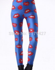 Womens Leggins Sexy Red Lips/Kisses Leggings Gym Clothes Women Legging Fitness Sports Women Leggins For Women
