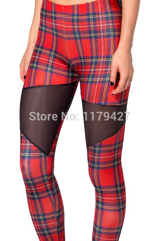 b8b62a715bd52 Womens Leggins Tartan Red Spartans Leggings Gym Clothes Women ...